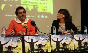 Pepe Chisvert, i Montse Cobo, en la presentació del 6è festival Canòlich Music aquest dimarts.