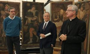 El copríncep episcopal, Joan-Enric Vives, en la presentació d'aquest dimarts.