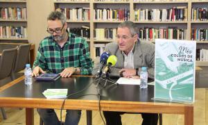 Salomó Benchluch i Oriol Vilella, durant la presentació de la jornada 'Més Colors de Música'.