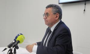 El president d'ACTinn, Albert Moles, en un moment de la roda de premsa d'aquest dimarts.
