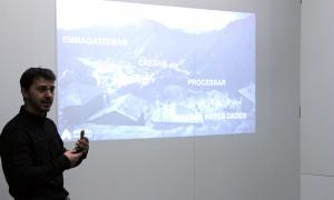 El director d'Actua Innovació, Marc Pons, durant la presentació de la plataforma.