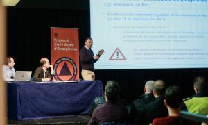 Presentació del balanç d'actuació de Protecció Civil durant el 2018.
