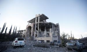 Imatge d'arxiu d'un bombardeig de la coalició liderada per l'Aràbia Saudita al Iemen.