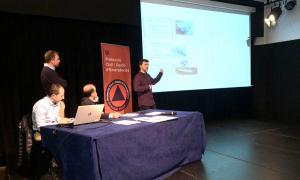 Un moment de la presentació de l'eina de prevenció de riscos naturals.