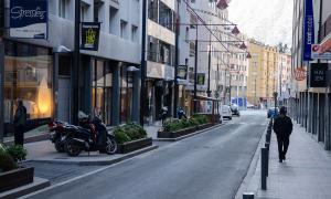 La part final del carrer de Riberaygua.
