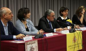 L'ambaixador d'Espanya, Àngel Ros, en la presentació dels Premis literaris Sant Jordi 2019, celebrada aquest dimecres.