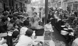 Una de les primeres escudelles populars celebrades a Andorra el 17 de gener de 1973.