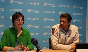 Marta Alberch i Adolfo Torreño durant la roda de premsa d'aquest dijous.
