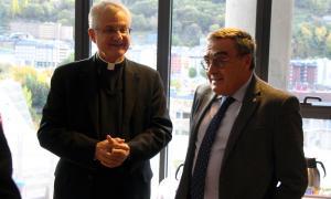 L'ambaixador espanyol a Andorra, Àngel Ros, i el copríncep episcopal, Joan-Enric Vives, durant una trobada recent.