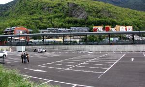 El nou aparcament al costat de l'Estació Nacional d'Autobusos.