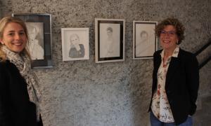 Les artistes Maria Bacardi i Montse Rubio.