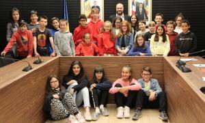 Nens i nenes que han participat en el Consell d'infants d'Escaldes-Engordany.