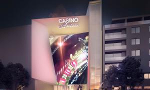 Fotomuntatge de la façana de l'edifici que proposa Jocs SA.