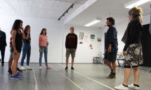 L'assaig general de 'La clownerie de printemps' celebrat aquest dijous al Centre cultural la Llacuna.