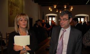 Conxita Mora i Ladislau Baró al Consell General.