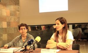 Lídia Rabassa i Vanessa Fenés han presentat el tercer volum de l'estudi de la toponímia de la vall d'Ordino.