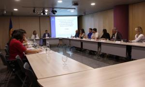 Un moment de la reunió celebrada aquest dimarts de la comissió de coordinació i desenvolupament de l'estratègia nacional de la biodiversitat d'Andorra (Cenba).