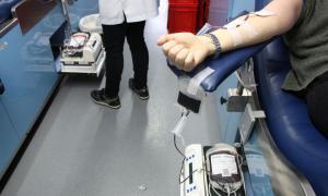 Un donant de sang.