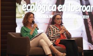 Sílvia Calvó, durant la seva intervenció a Costa Rica.