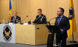 El cap de Govern, Xavier Espot, durant el seu parlament d'aquest divendres.