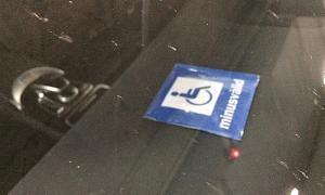 Targeta per a persones amb discapacitat.
