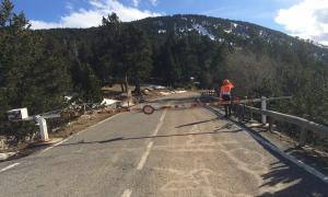 La carretera del coll d'Ordino.