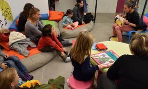 Sessió de contacontes en francès a la biblioteca comunal d'Ordino.