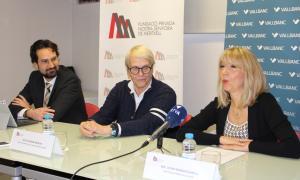 Presentació del concert amb Marc Cornella, Catherine Métayer i Celine Mandicó.