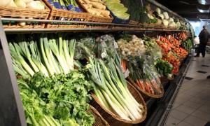Productes d'alimentació en un supermercat.