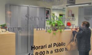 Entrada al Servei d'Ocupació.