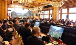 Un moment de la Reunió Iberoamericana de ministres d'Afers Exteriors a Andorra celebrada el mes de novembre.