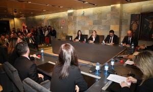 Un moment de la tradicional sessió del Sants Innocents, en què els nous cònsols i consellers han jurat o promès el càrrec.