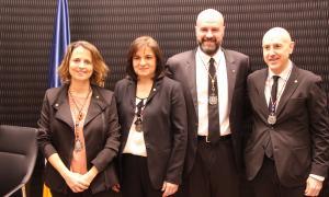 Rosa Gili, Trini Marín, Marc Calvet i Joaquim Dolsa.