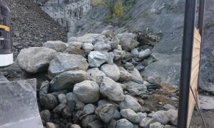 Les pedres que hi ha a la cubeta de la zona de la Portalada.