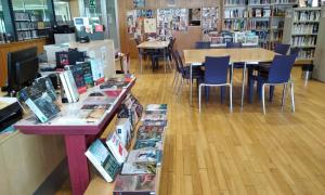 Una imatge de la biblioteca comunal del Pas de la Casa.