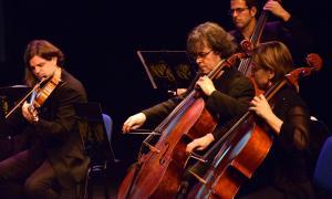 El primer concert del cicle Paisatges, a càrrec de l'ONCA, al Teatre Comunal d'Andorra la Vella.