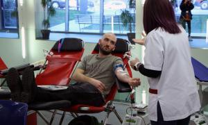 Un moment de la jornada de donació de sang.
