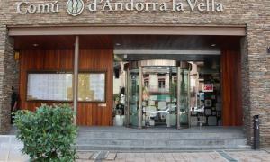 Imatge de l'entrada del Comú d'Andorra la Vella.
