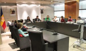 Un moment de la sessió del Consell d'infants d'Ordino.