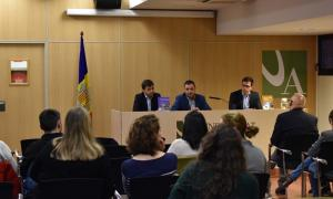 Marc Vilallonga, Eduard Jordi i Sergi Colell, autors del llibre 'Fiscalitat d'Andorra'.