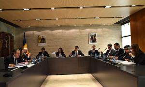 Un moment de la sessió de consell de comú celebrada aquest dimecres a Ordino.