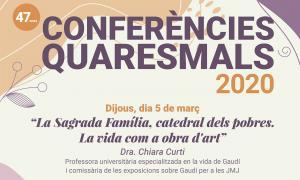 Un detall del cartell que anuncia les conferències.