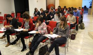 Membres de l'Associació de Treballadors Socials d'Andorra, durant una formació.