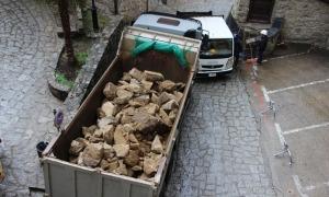 Treballs en una de les obres aturades el març passat.