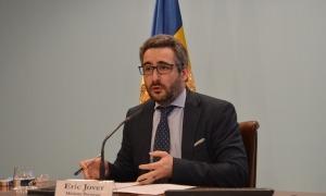 El ministre de Finances i portaveu de l'executiu, Eric Jover.