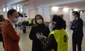 Xavier Espot i Rosa Gili a l'stop lab d'Escaldes-Engordany el maig passat.