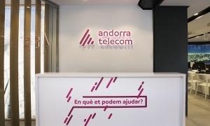 Entrada de l'oficina comercial d'Andorra Telecom.