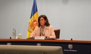 La ministra Vilarrubla en la compareixença d'aquest matí.