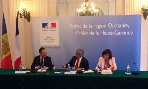 El cap de Govern, Xavier Espot, ha mantingut aquest dilluns al matí una reunió telemàtica amb el prefecte de la regió d'Occitània, Étienne Guyot, i el conseller regional i representant de la presidenta de la Regió d'Occitània / Pirineus-Mediterrània, John Palacin.