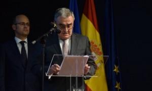 L'ambaixador, Àngel Ros, durant un discurs.